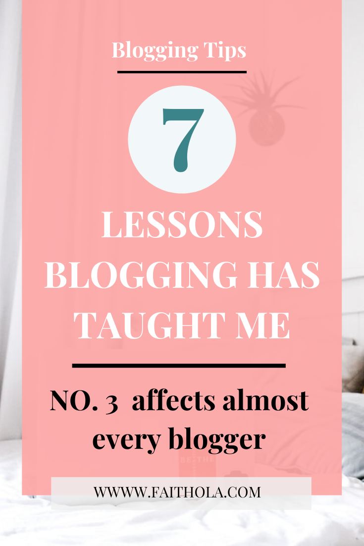 7 lessons blogging has taught me