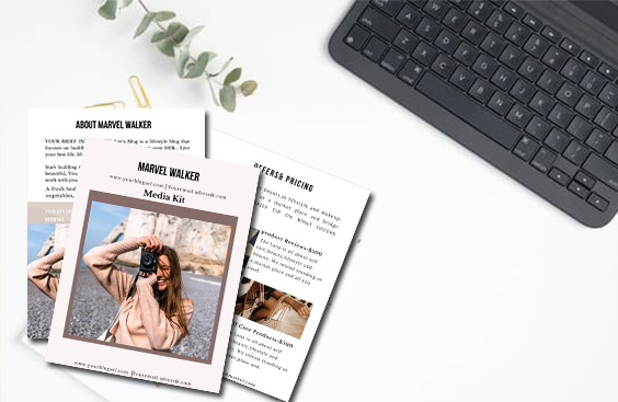How to create media kit for bloggers