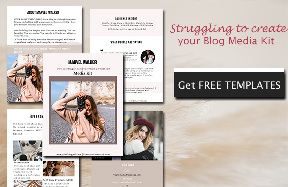 Free blogger media kit template made in canva
